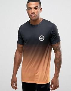 Футболка с логотипом на груди и эффектом омбре Hype - Черный