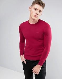 Бордовый джемпер классического кроя Armani Jeans - Красный