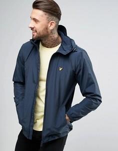 Куртка с капюшоном и сквозной молнией Lyle & Scott - Темно-синий