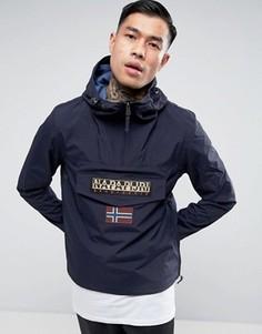 Темно-синяя нейлоновая куртка с капюшоном Napapijri Rainforest - Темно-синий