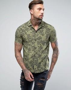 Рубашка с короткими рукавами Religion - Зеленый