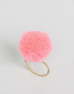 Кольцо с большим помпоном ASOS - Розовый