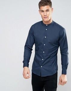 Строгая рубашка узкого кроя Selected Homme - Темно-синий