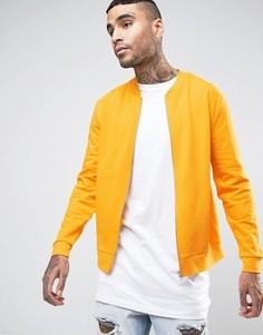 Желтая трикотажная куртка‑пилот ASOS - Желтый