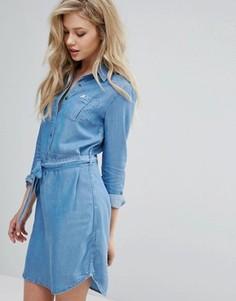 Платье-рубашка в стиле вестерн Lee - Синий