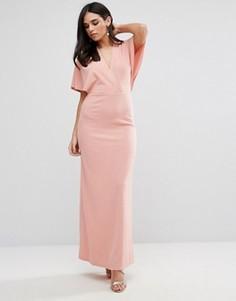 Платье макси с рукавами кимоно Oh My Love - Розовый