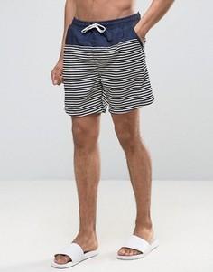 Шорты для плавания в полоску Selected Homme - Темно-синий