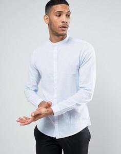 Льняная рубашка в полоску с воротником на пуговицах Casual Friday - Белый