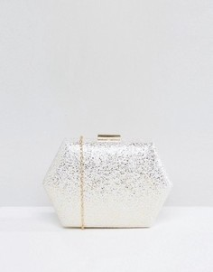 Шестиугольный клатч с блестками Chi Chi London - Золотой