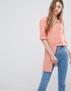 Удлиненная рубашка Vero Moda - Зеленый
