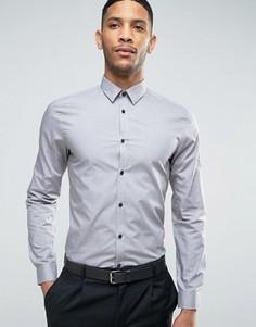 Серая рубашка классического кроя из поплина New Look - Зеленый
