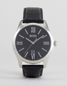 Часы с черным кожаным ремешком BOSS By Hugo Boss 1513022 Ambassador - Черный