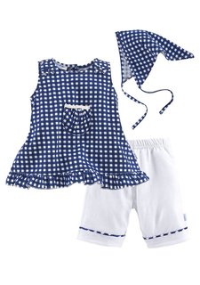 Комплект, 3 части: платье + брюки + платок KLITZEKLEIN