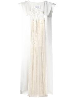 плиссированное платье  Maison Margiela