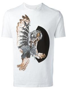 футболка с принтом механической совы Neil Barrett