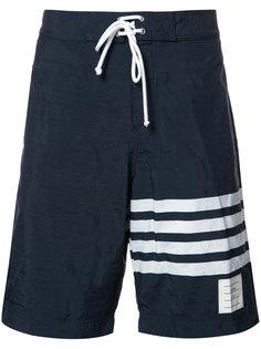 шорты для плавания с принтом в полоску Thom Browne