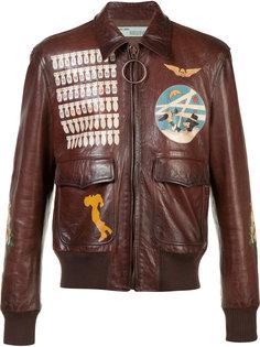 байкерская куртка с передними карманами Off-White