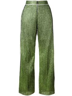 широкие блестящие брюки Aviù