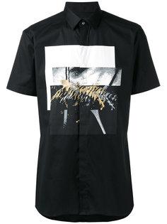 рубашка с абстрактным принтом Les Hommes