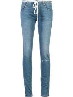 джинсы с принтом роз Off-White