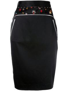 юбка-карандаш с вышитой отделкой Cavalli Class