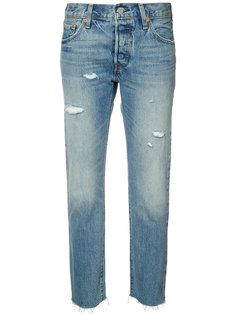 укороченные джинсы с потертой отделкой Levis Levis®