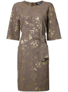 платье с поясом и накладными карманами Paule Ka