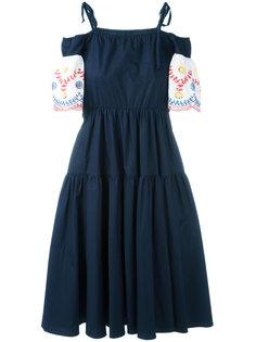 платье с вышивкой IM Isola Marras