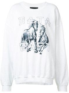 horse print sweatshirt Baja East