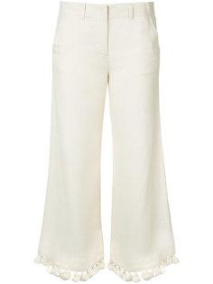 укороченные брюки с кисточками Figue