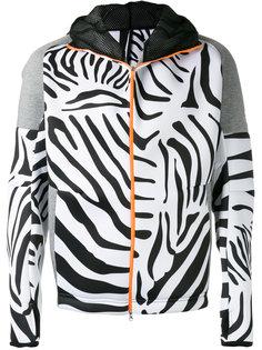 толстовка на молнии с зебровым принтом Adidas By Kolor