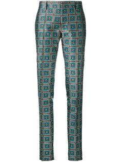 брюки с геометрическим узором Bally