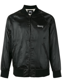 куртка-бомбер  с принтом California Stussy