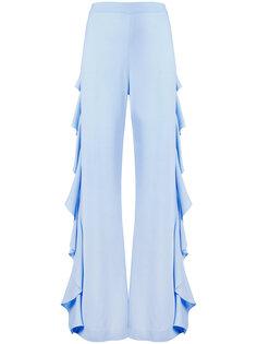брюки с драпировкой сбоку Sara Battaglia