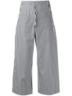 укороченные полосатые поплиновые брюки  Federica Tosi