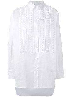рубашка с волнистой отделкой на груди  Alberta Ferretti