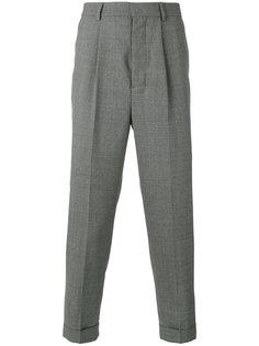 брюки с завышенной талией и складками Ami Alexandre Mattiussi