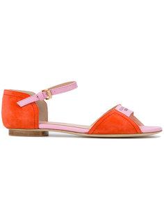 сандалии с принтом-логотипом Boutique Moschino