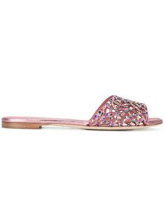 декорированные сандалии Sergio Rossi