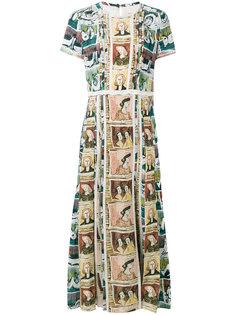платье с принтом Framed Heads and Reclining Figures Burberry