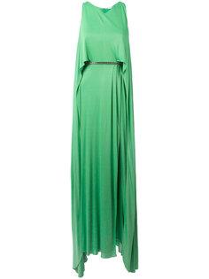 многослойное длинное платье  Versace Collection