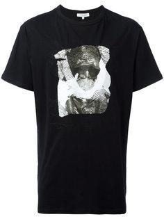 футболка с принтом и декоративной строчкой Les Benjamins