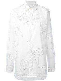 рубашка с узором Paul Smith