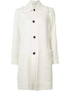 frayed trim trench coat  Raquel Allegra