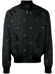 куртка-бомбер с принтом сигарет Alexander Wang