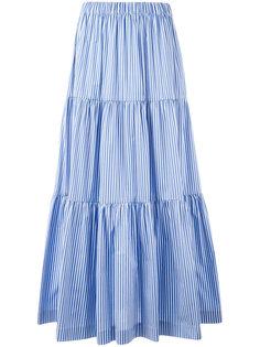 длинная многоярусная юбка P.A.R.O.S.H.