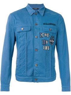 джинсовая куртка с нашивками Good Times Dolce & Gabbana