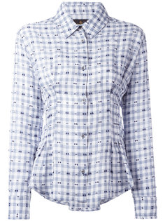 embroidered pleated detail shirt Vivienne Westwood Anglomania
