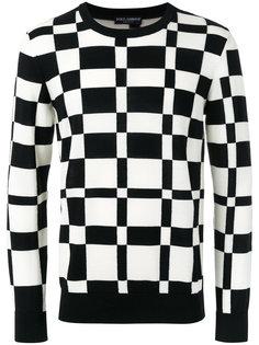 свитер с графическим узором Dolce & Gabbana