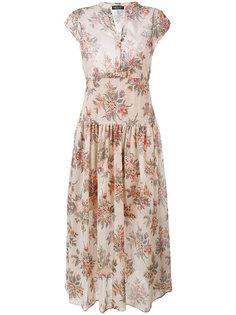 плиссированное платье с цветочным принтом Twin-Set